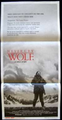 Never Cry Wolf Movie Poster Original Daybill