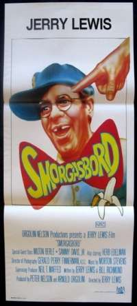 Smorgasbord 1982 Jerry Lewis Cracking Up Daybill Movie poster