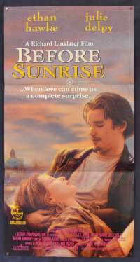Before Sunrise Movie Poster Original Daybill 1995 Ethan Hawke Julie Delpy