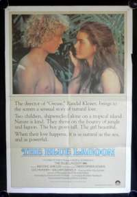 The Blue Lagoon Poster Original One Sheet 1980 Brooke Shields Christopher Atkins