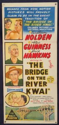 The Bridge On The River Kwai Poster Original Daybill Academy Award Vintage