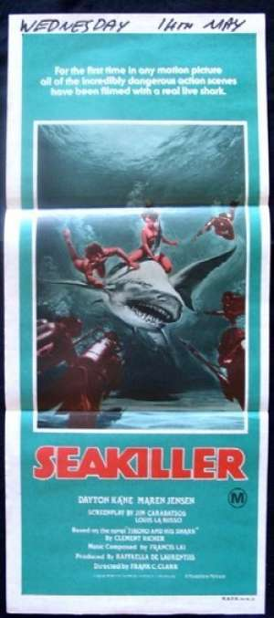 Sea Killer Poster Original Daybill 1981 aka Beyond The Reef