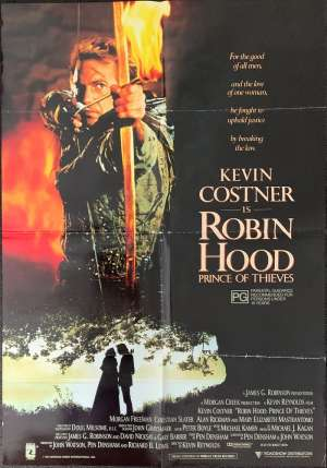 Robin Hood Prince Of Thieves Poster Original One Sheet 1991 Kevin Costner