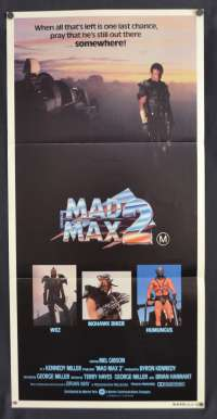 Mad Max 2 Poster Original Daybill 1981 Mel Gibson The Road Warrior Max Rockatansky