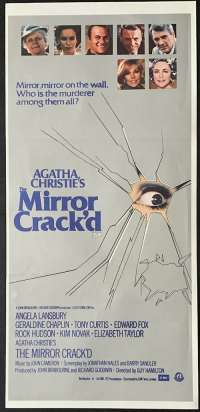 The Mirror Crack'd Poster Original Daybill 1980 Angela Lansbury Agatha Christie