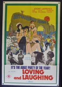 Loving And Laughing Poster Original One Sheet 1971 Sexploitation Getting High
