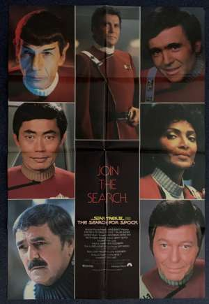 Star Trek 3 The Search For Spock Poster Original One Sheet 1984 Rare Photo Art