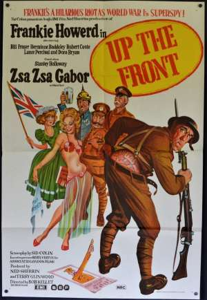 Up The Front Poster Original One Sheet 1972 Frankie Howerd Zsa Zsa Gabor Comedy