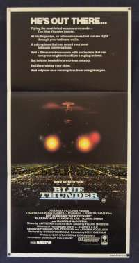 Blue Thunder 1983 Roy Scheider Malcolm McDowell Daybill movie poster