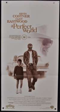 A Perfect World Movie Poster Original Daybill 1993 Clint Eastwood Kevin Costner