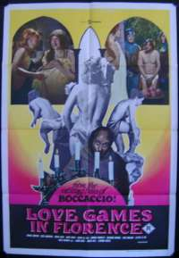 Love Games In Florence One Sheet Australian Movie poster