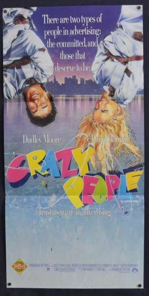 Crazy People 1990 Daybill movie poster Dudley Moore Daryl Hannah Advertising