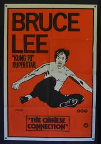 The Chinese Connection Poster Original One Sheet 1972 Bruce Lee Martial Arts