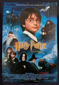 Harry Potter And The Sorcerer's Stone Poster Original RARE USA One Sheet