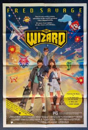 The Wizard Poster Original One Sheet Rare 1989 Fred Savage Nintendo