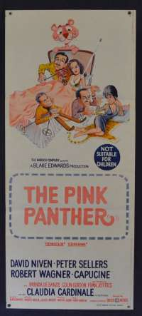 The Pink Panther Poster Rare Original Daybill 1963 Peter Sellers David Niven