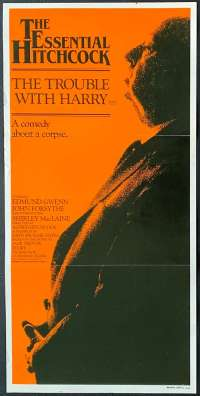 The Trouble With Harry Movie Poster Original Daybill 1983 Re-Issue Hitchcock