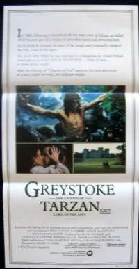 Greystoke - The Legend Of Tarzan Daybill movie poster
