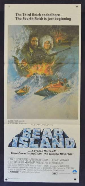 Bear Island Movie Poster Original Daybill 1979 Donald Sutherland Alistair MacLean