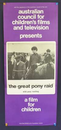 The Great Pony Raid Poster Australian Daybill Movie poster
