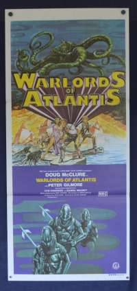Warlords Of Atlantis 1978 movie poster Daybill Doug McClure Shane Rimmer
