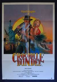 Crocodile Dundee 1986 One Sheet movie poster Country Of Origin Paul Hogan