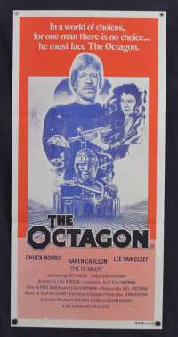 The Octagon Poster Original Daybill 1980 Chuck Norris Martial Arts Ninja