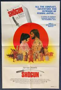 Shogun 1980 One Sheet movie poster Richard Chamberlain James Clavell