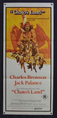 Chato's Land 1972 Daybill movie poster Western Charles Bronson Jack Palance