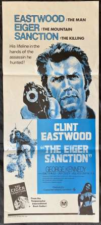 The Eiger Sanction Poster Original Daybill 1975 Clint Eastwood Climbing