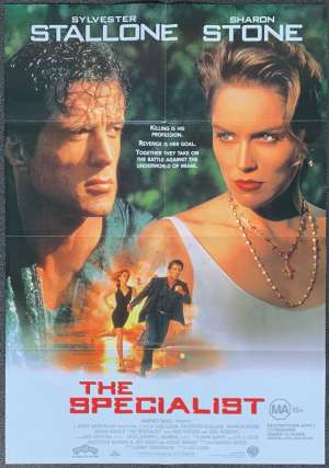The Specialist Poster Original One Sheet 1994 Sylvester Stallone Sharon Stone