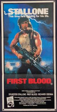 First Blood movie poster Original Daybill Sylvester Stallone Rambo Drew Struzan Art