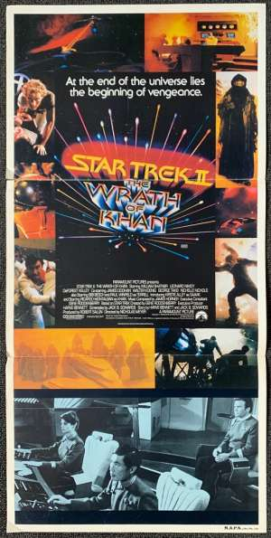 Star Trek 2 The Wrath Of Khan Poster Original Daybill 1982 William Shatner