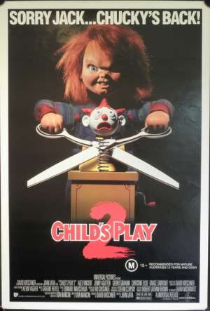 Child's Play 2 (Rolled) One Sheet Australian movie poster