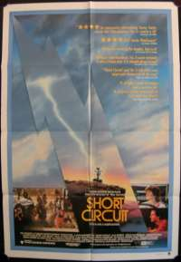Short Circuit 1986 movie poster Ally Sheedy one sheet
