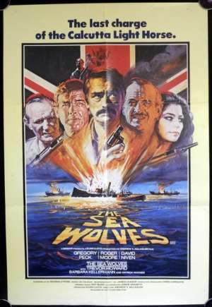 The Sea Wolves Poster Original One Sheet 1980 Gregory Peck Roger Moore