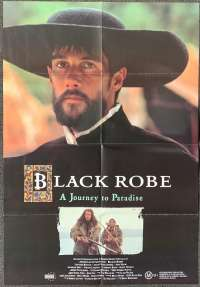 Black Robe Poster Original One Sheet 1991 Aden Young Bruce Beresford