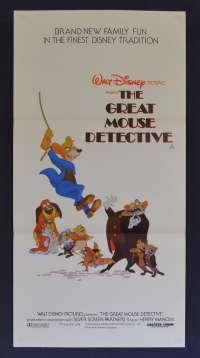 The Great Mouse Detective movie poster Original Daybill Disney