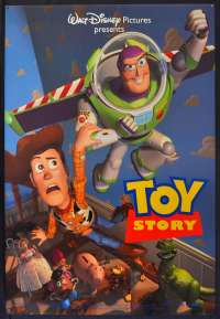 Toy Story 1995 One Sheet movie poster Rolled Tom Hanks Pixar Buzz Lightyear