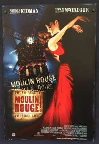 Moulin Rouge 2001 Daybill movie poster Nicole Kidman Ewan McGregor Baz Luhrmann
