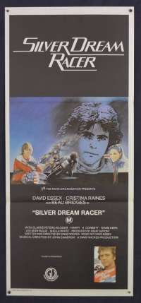 Silver Dream Racer Movie Poster Original Daybill 1980 David Essex Biker