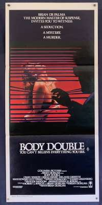 Body Double Daybill Movie poster Brian De Palmer Melanie Griffith