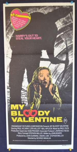 My Bloody Valentine movie poster George Mihalka Daybill