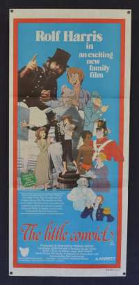Little Convict 1979 movie poster Rolf Harris animation Australian Daybill