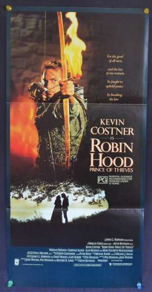 Robin Hood Prince Of Thieves Movie Poster Original Daybill 1991 Kevin Costner