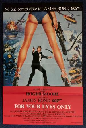 For Your Eyes Only Poster Original Movie Promotional 1981 Roger Moore James Bond