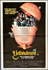 Yellowbeard 1983 movie poster One sheet Monty Python Marty Feldman Spike Milligan