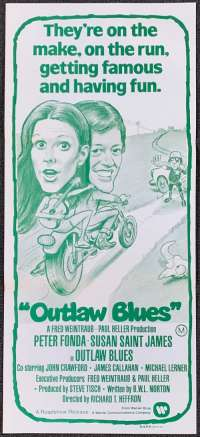 Outlaw Blues Daybill Movie poster