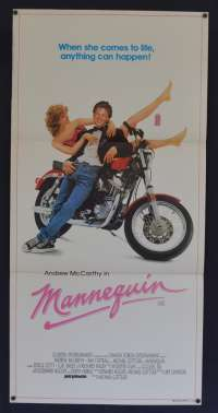 Mannequin 1987 Daybill Movie Poster Andrew McCarthy Kim Cattrall Starship Music