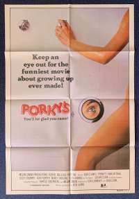 Porky's Movie Poster Original One Sheet 1981 Kim Cattrall Dan Monahan